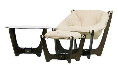 luna ottoman and table