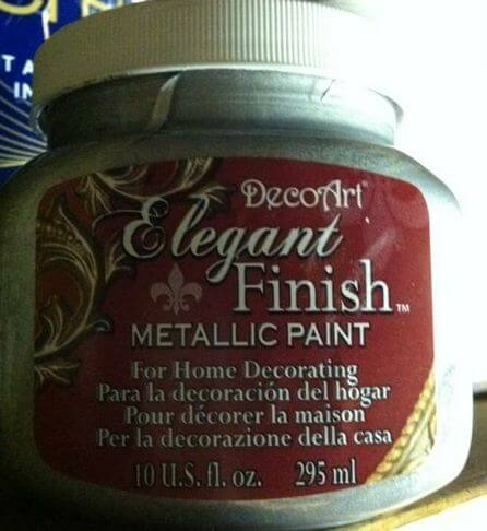 metallic paint used for starburst stencils