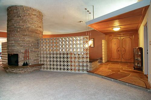 midcentury modern round living room
