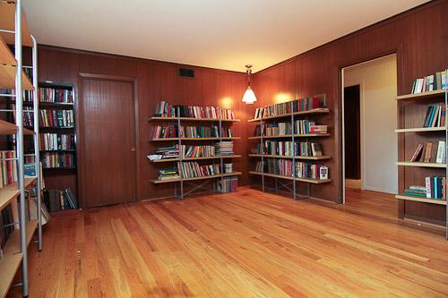 wood paneling den