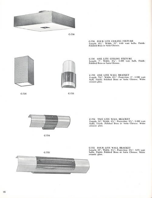 vintage feldman lighting catalog