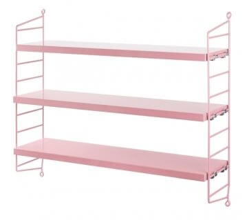string shelf pink