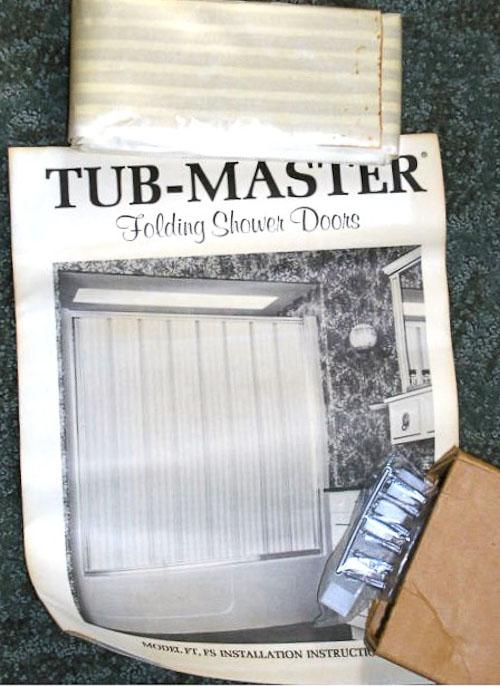 10 NOS Tub-Master accordian-door shower doors - for a vintage travel ...