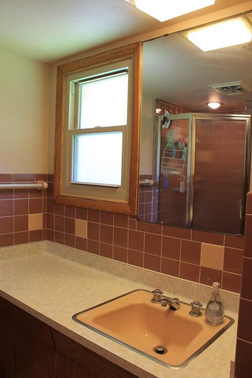 retro bath vanity