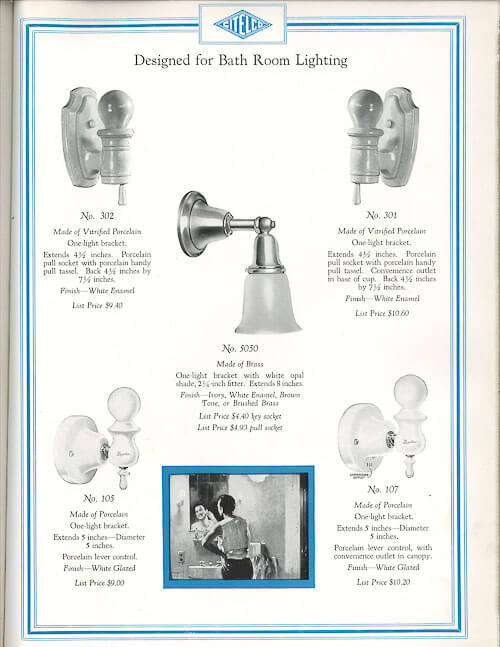 The History Of Porcelain Light Fixtures Classics For 1920s 1930s 1940s Homes