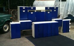 cobalt blue steel kitchen cabinets