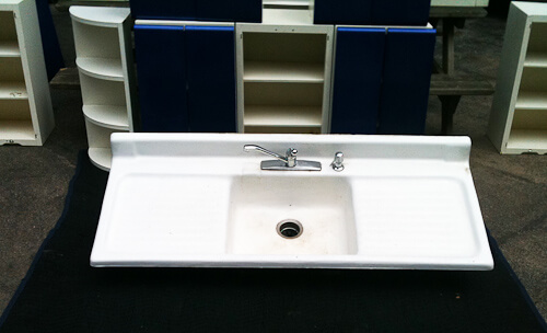 drainboard kitchen sink