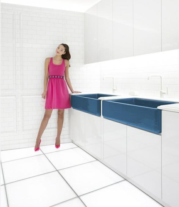 Flower power kitchen and bathroom sinks new from kohler jonathan adler retro renovation - Jonathan adler sink ...
