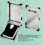 Built in bathroom scale that folds down — among the three most collectible vintage Hall-Mack & Nutone bathroom accessories