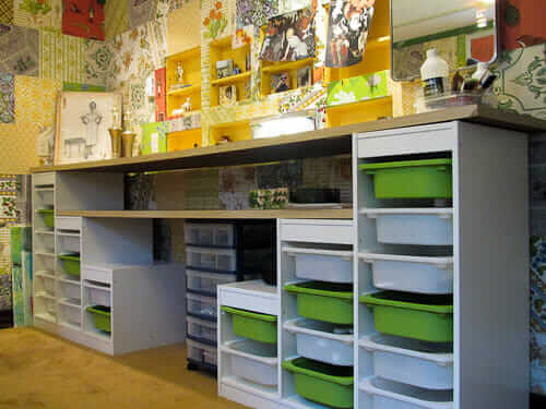 craft room ikea trofast ... & Affordable craft room ideas - Using Ikea kids storage and Re-Store ...