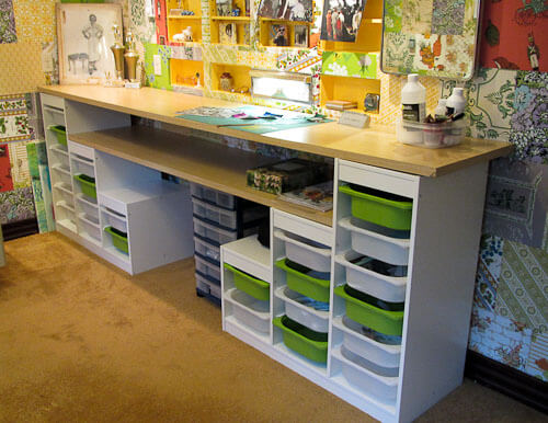 affordable craft room ideas using ikea kids storage and On cheap craft room storage ideas