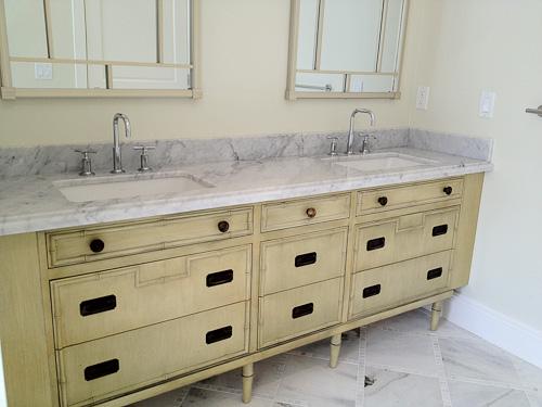 dresser converted to master bathroom sink