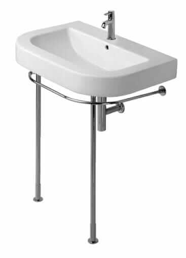 duravit happy d sink on metal legs