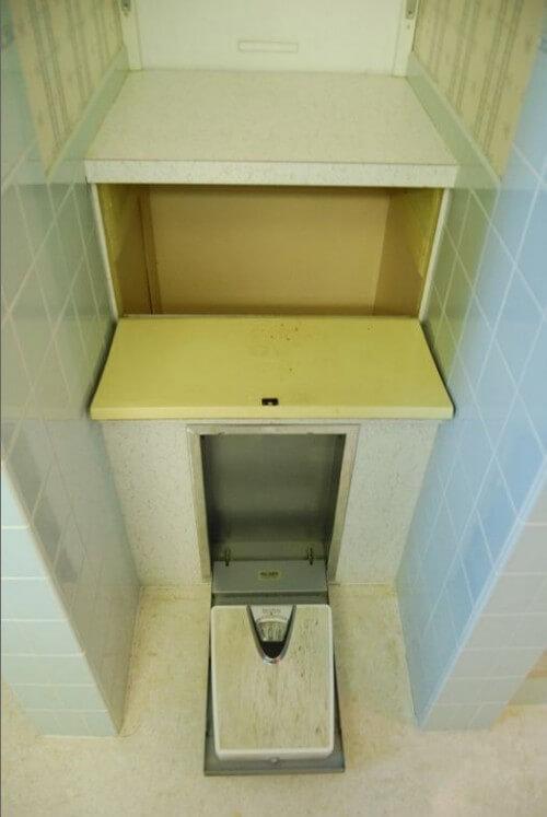 built in fold down bathroom scale
