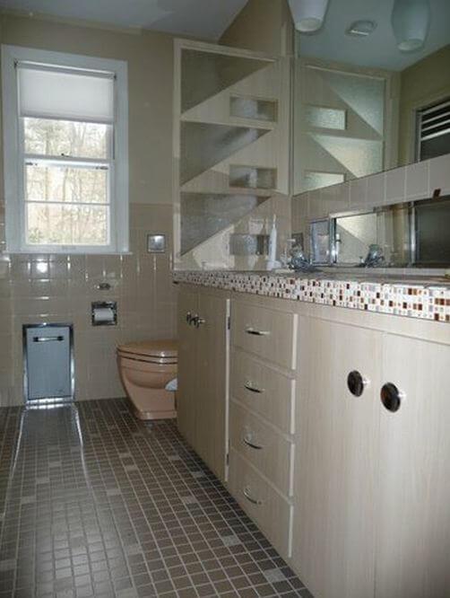 recessed fold down bathroom scale hall-mack