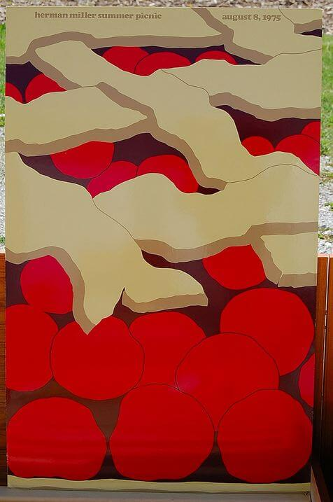 herman miller company summer picnic poster cherry pie