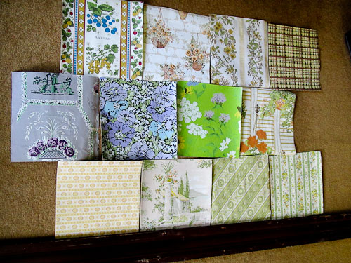 vintage wallpaper samples