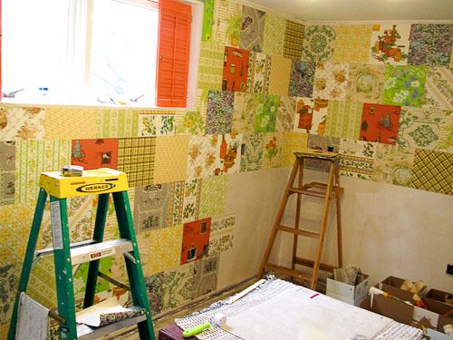 installing vintage wallpaper