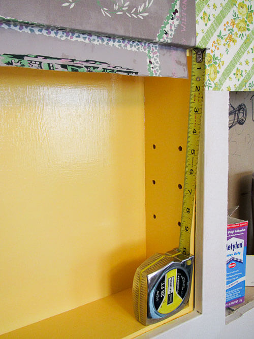 installing wallpaper around rounded edges