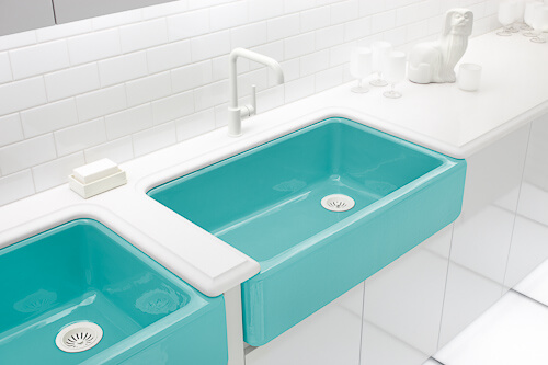 turquoise kitchen sinks