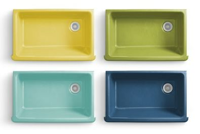 Bathroom Sink Yellow flower power kitchen and bathroom sinks - new from kohler +