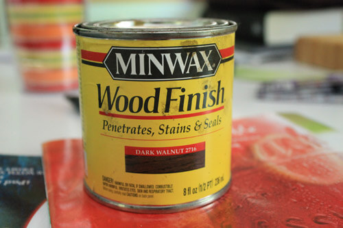 step 6 stain Minwax wood finish dark walnut