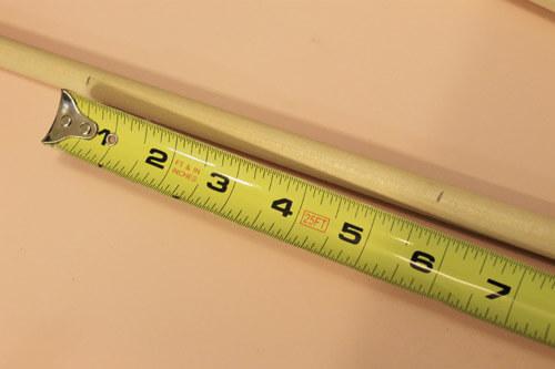 step 4 measure and cut cross beam dowel rods