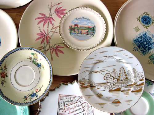 vintage plate collection