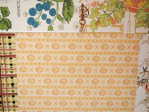 vintage wallpaper stripes laid horizontally