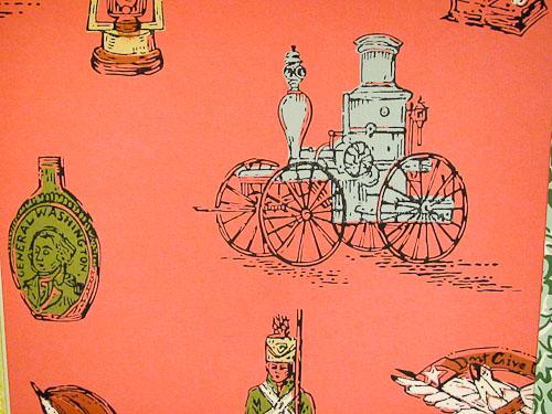 vintage wallpaper colonial