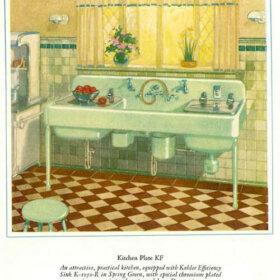 jadeite color kitchen sink from 1927