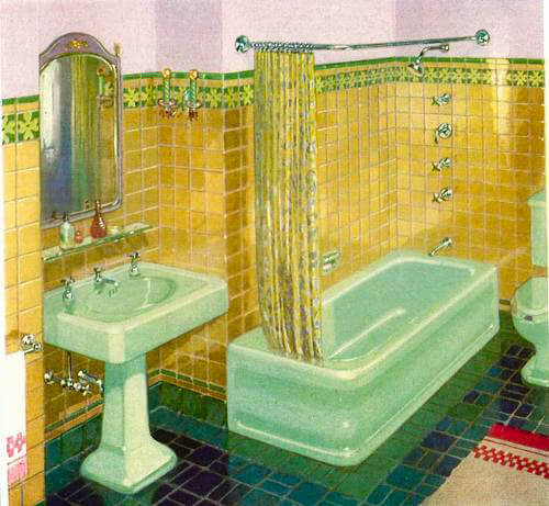 the first green color for sinks tubs and toilets introduced by kohler in 1927
