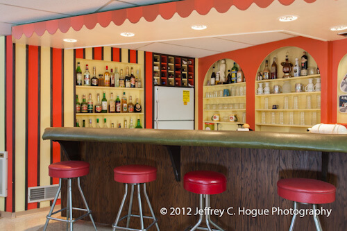 basement bar in 1965 time capsule house