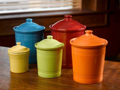colorful kitchen canister sets dinnerware s newest color flamingo plus made in 5569