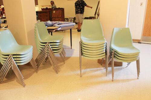 aqua chairs