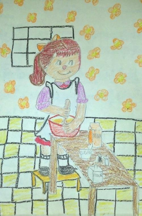 childs drawing of a kitchen