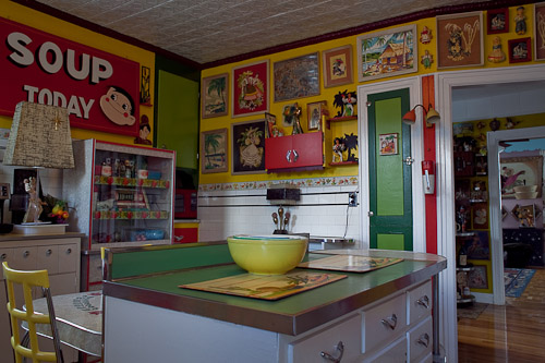 paint by numbers in a kitchen