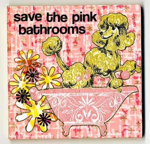 save the pink bathrooms art