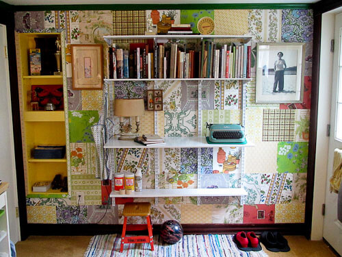 i used knape and vogt shelving in my retro office remodel & I add more craft room storage using historic Knape u0026 Vogt modular ...