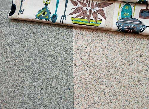 Original Eichler Paint Colors For Your Ranch Or Contemporary Home likewise 3 Photos 1960 Time Capsule Mid Century Modern Ranch House C  Hill Pennsylvania in addition Vintage Pink American Standard Toilet New Innards Seat Works Great furthermore Linen And Terrazzo Look Vinyl Sheet Flooring In Aqua And Other Neutrals as well Vintage Wallpaper Bathroom. on mid century bathroom