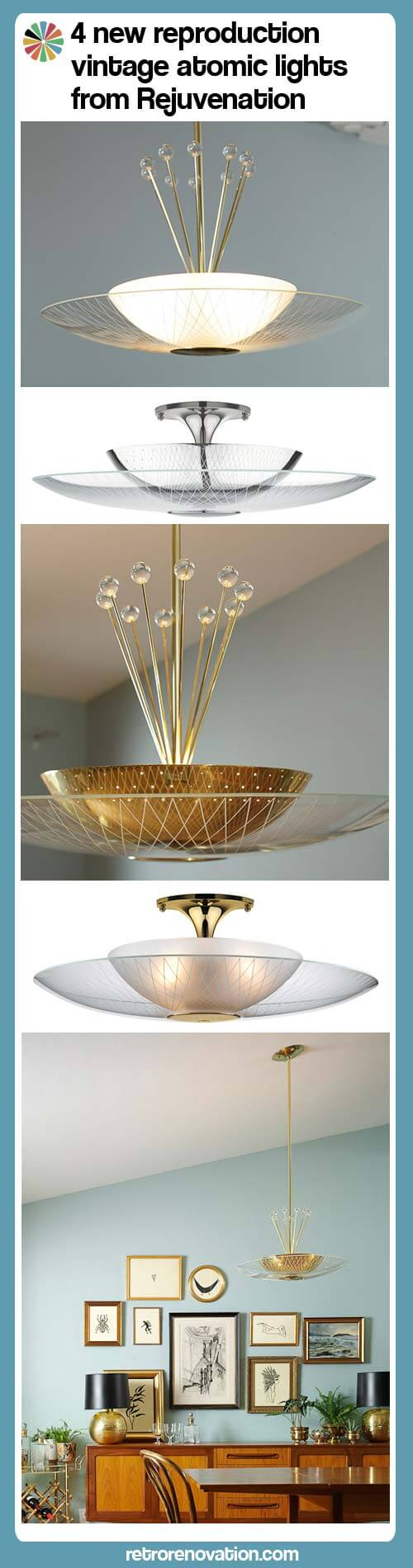 vintage atomic retro midcentury ceiling lights