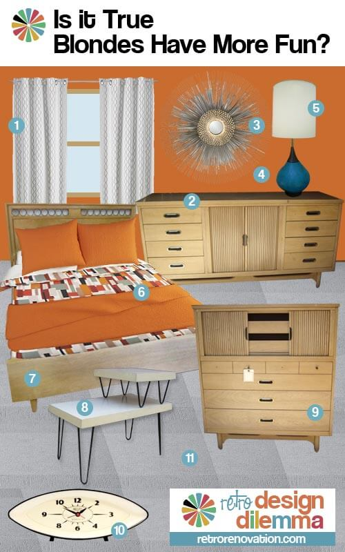 vintage blonde bedroom furniture idea