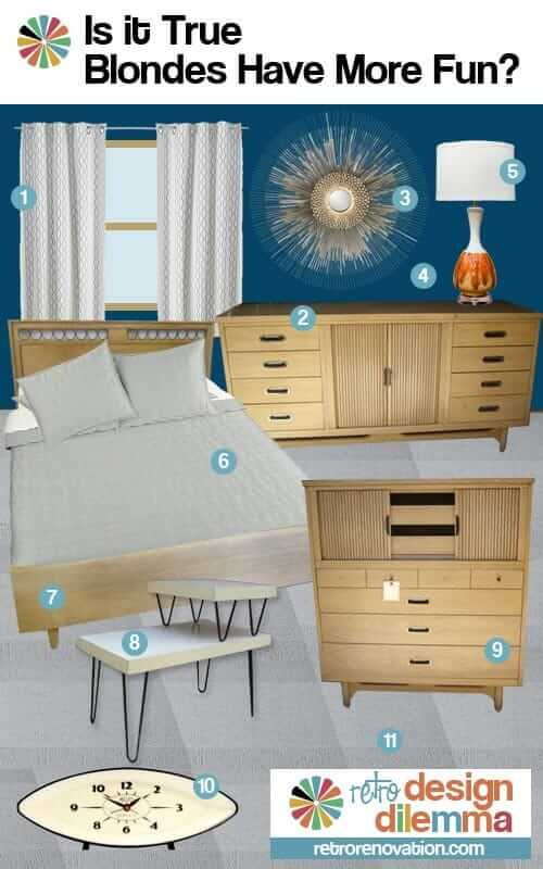 Bedroom design ideas for robert 39 s blonde vintage furniture for Retro style bedroom furniture