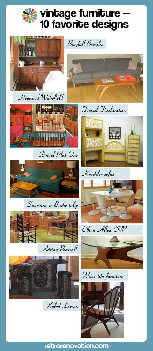 Vintage-Furniture brands - Vintage Furniture - 10 Of Our Favorite Midcentury Designs And Brands