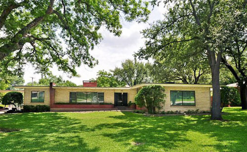 1950 Mid Century Modern House In Dallas Original