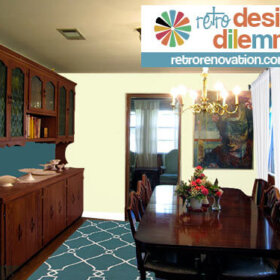 adding retro style to a dining room