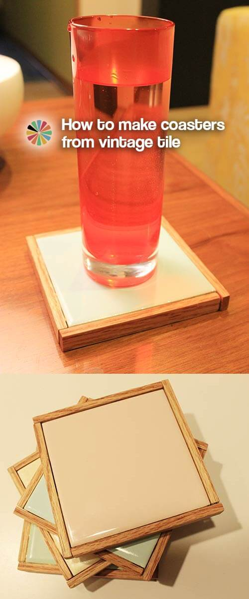 Make-coaster-from-vintage-tile