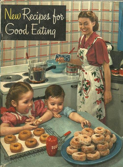 Vintage Cook book donuts