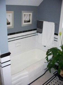 black-and-white-retro-bathroom tile vintage retro