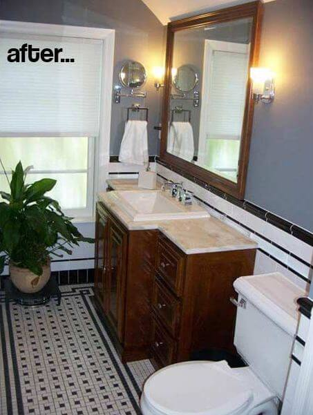 Liner Tiles For Your Bathroom Remodel Black White